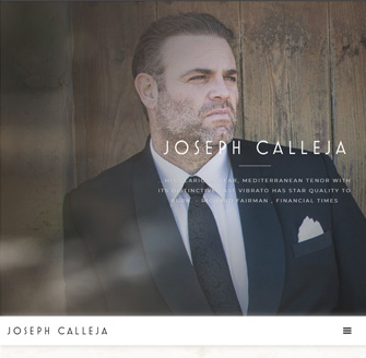 New Website for Joseph Calleja